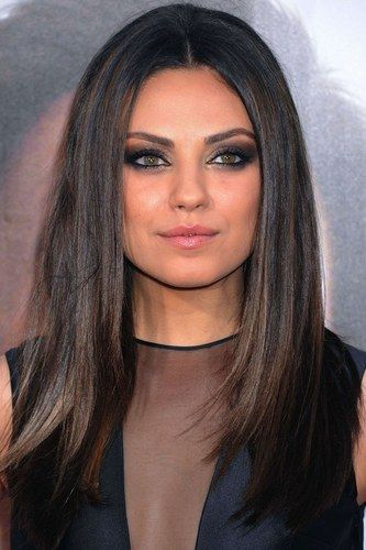 Mila Kunis hair: Sleek n shiny brunette locks