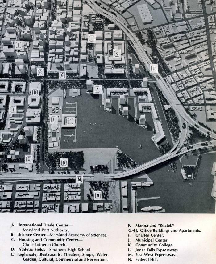 Harbor Baltimore views pre Inner harbor 1920's 1930's 1940's steamboats