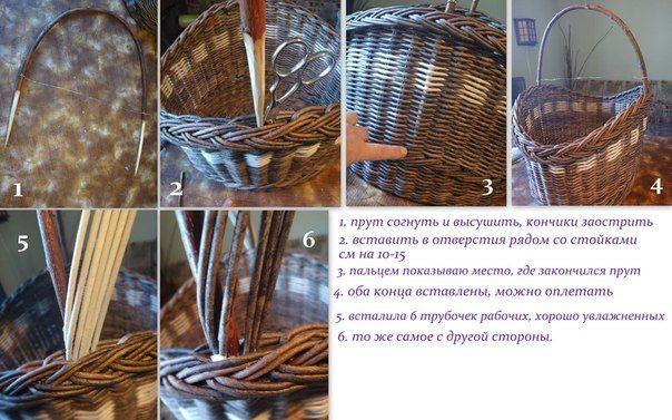 Крепление ручки Фото мастер-класс. | Плетение из газет | ВКонтакте