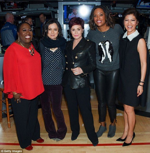 Girls day out: The 63-year-old TV personality was joined by her The Talk co-stars Sheryl Underwood, Sara Gilbert, Aisha Tyler and Julie Chen