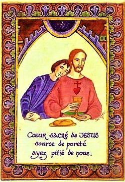 Saint Jean, apôtre et évangéliste et Jésus, le dernière cène