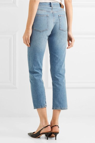 Totême - Original Cropped Mid-rise Slim-leg Jeans - Light denim -