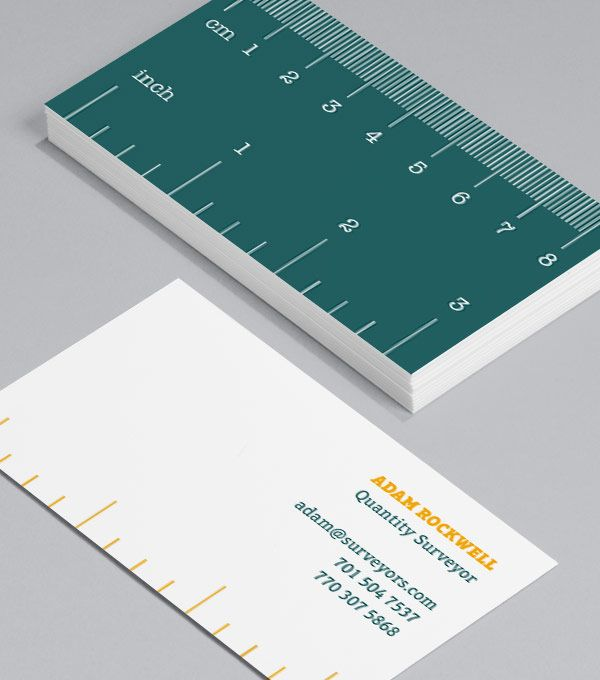 Rainbow rules: a simple set of Business Card designs, each with a different set of measurements. Great for designers, makers, architects, carpenters, builders, dressmakers... Stylish and useful designs, sure to be kept! #moocards #businesscard