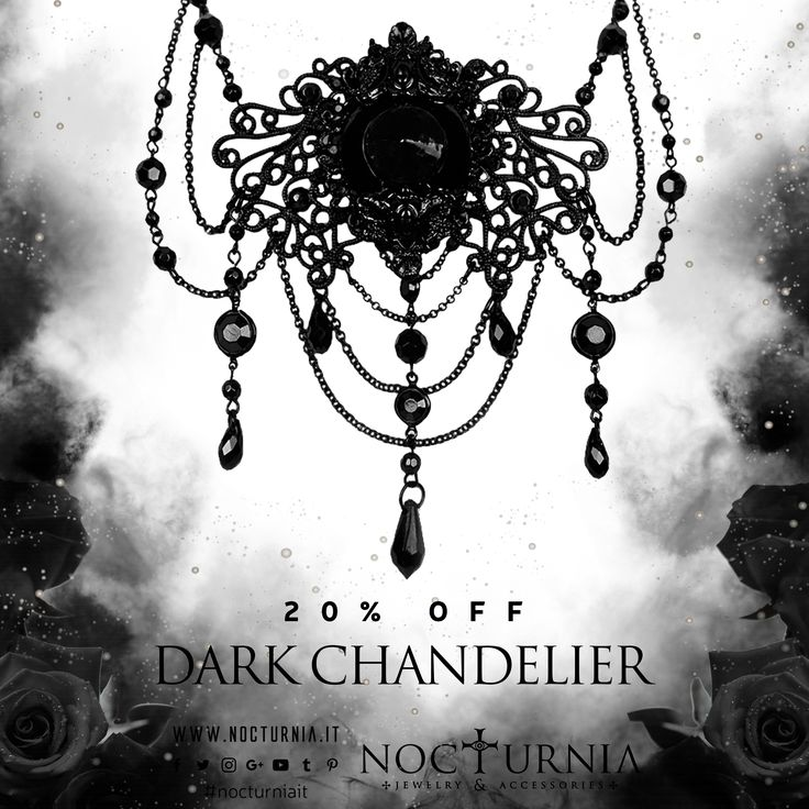 "Find our ""DARK CHANDELIER"" choker 20% OFF only on our shop. Click here http://bit.ly/darkchandelier Worldwide Shipping #nocturniait #blacksummersale"