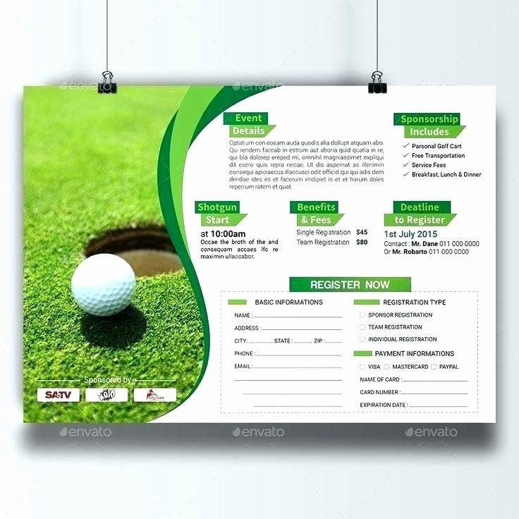 Golf Tournament Entry Forms Template