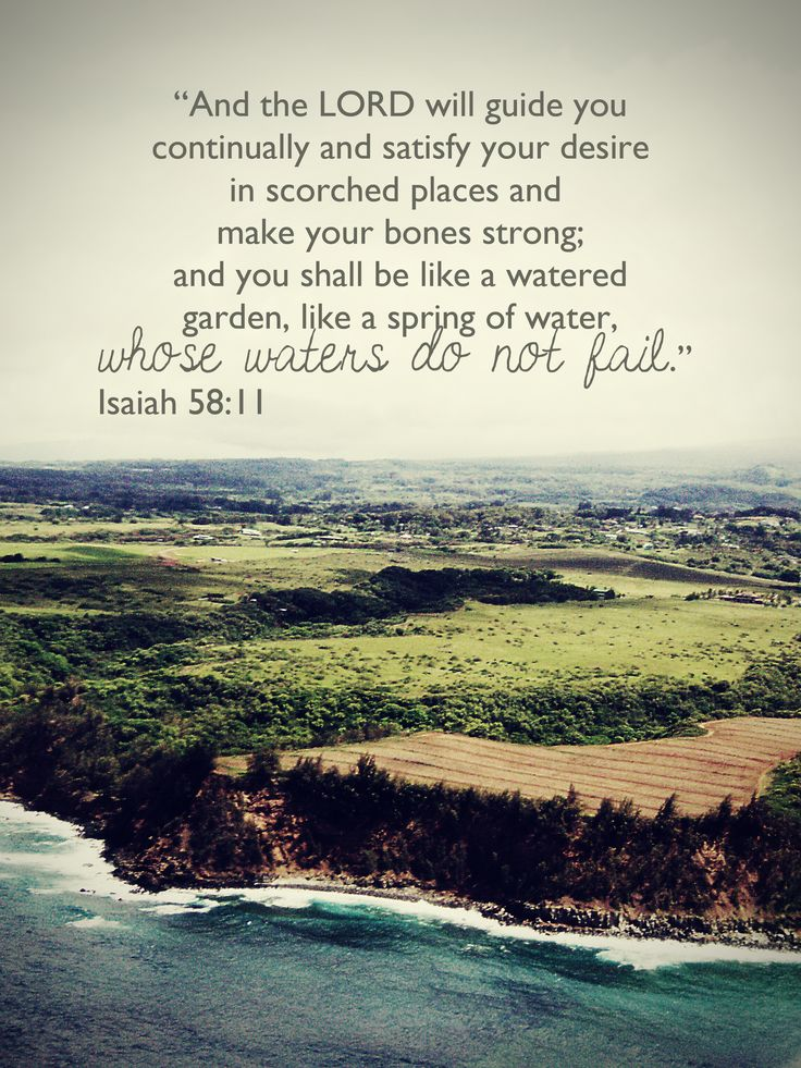 Isaiah 58:11 More at http://ibibleverses.christianpost.com