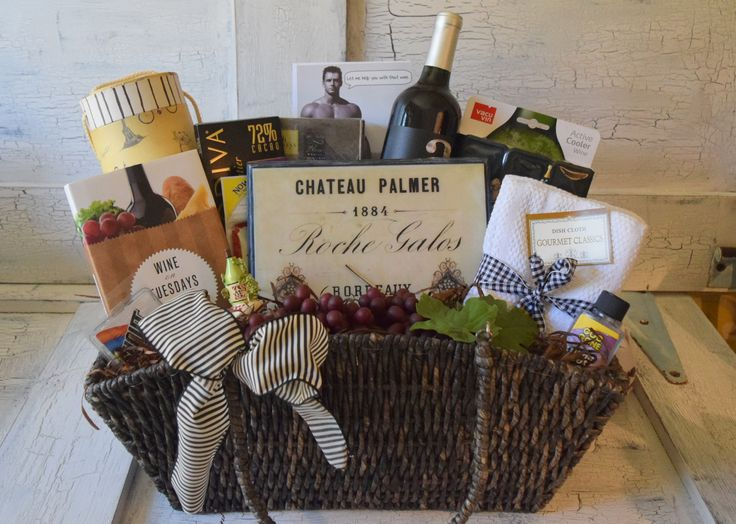 Tuscany Gift Basket Contents: Large Wicker Basket – Lined with Decorative Gift Wine Tube for Bottle of Wine (Sorry…..Wine is not included in Basket) Comes with a Handsome Birthday Card that can be exc