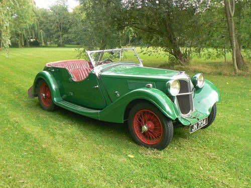 For sale is my 1936 Riley 12/4 Lynx.