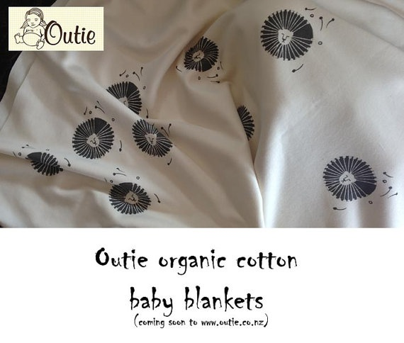Organic Cotton Baby Blanket by Outie by OutieNZ on Etsy, $90.00