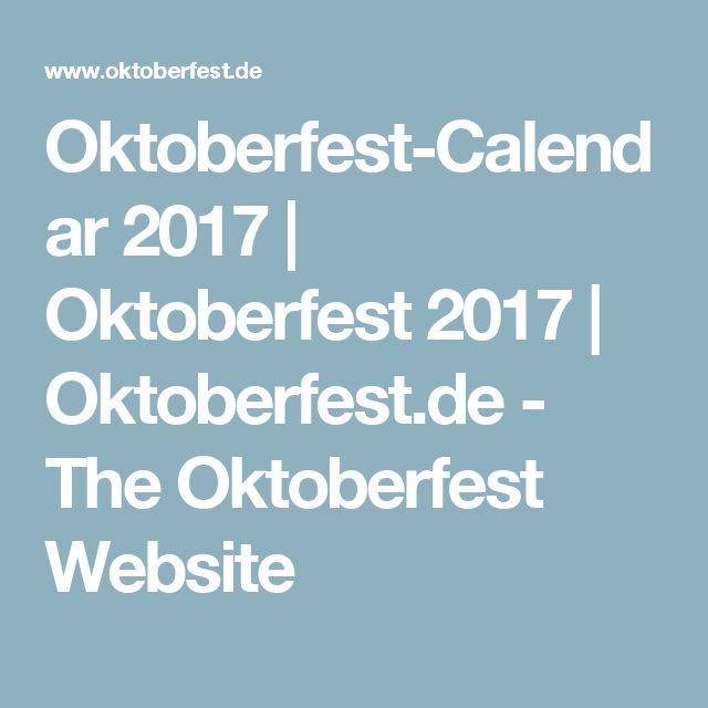 Oktoberfest-Calendar 2017   Oktoberfest 2017   Oktoberfest.de - The Oktoberfest Website