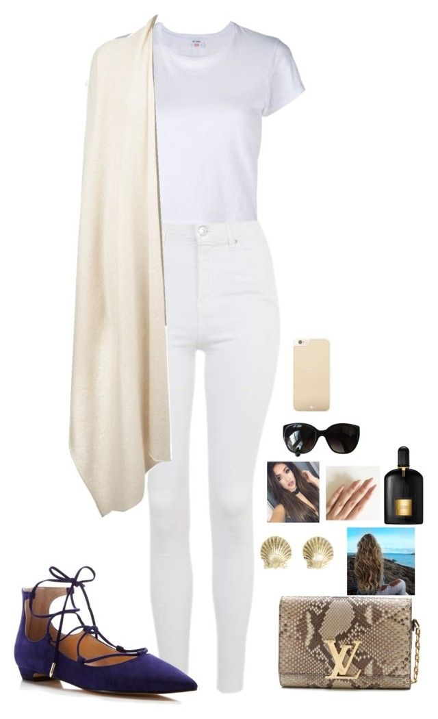 """""""Untitled #316"""" by mariapangal on Polyvore featuring RE/DONE, Topshop, The Row, Ivanka Trump, Louis Vuitton, Tiffany & Co., Tom Ford, Chanel and Kate Spade"""