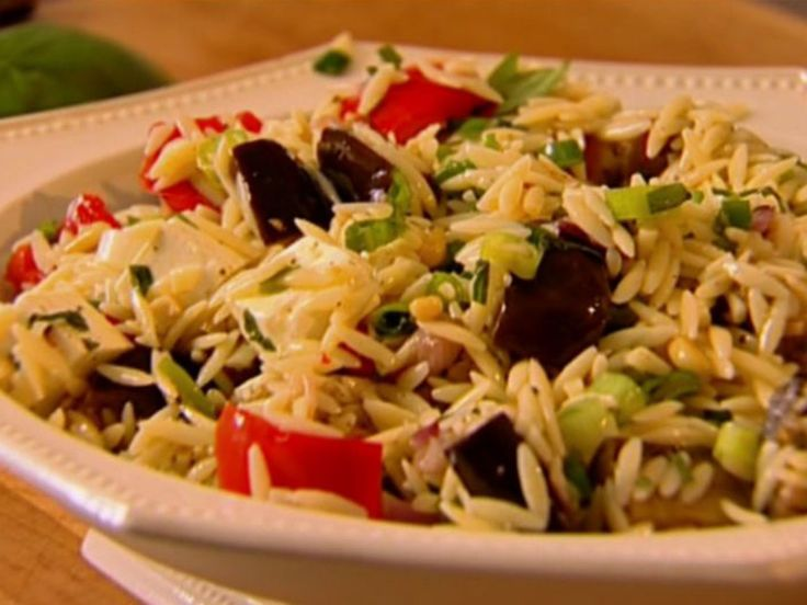 Orzo with Roasted Vegetables recipe from Ina Garten via Food Network