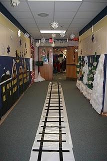 Train Tracks for Polar Express Day!