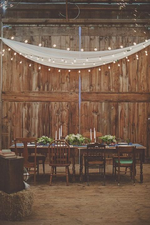We're all agreed: brown wire globe string lights are the perfect fit for barn weddings.   http://www.lightsforalloccasions.com/c-482-brown-wire-globe-string-lights.aspx
