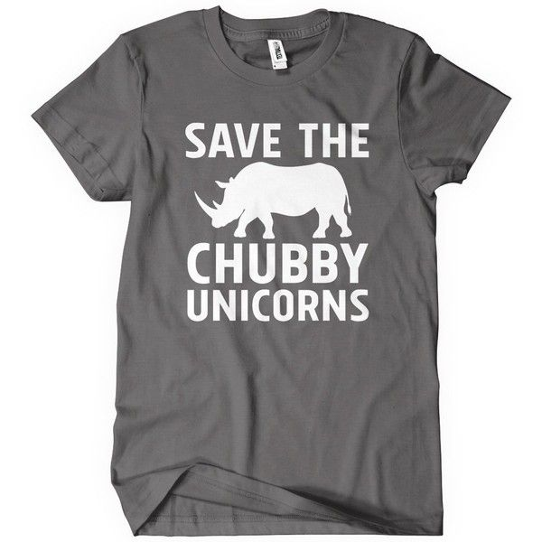 Amazon.com: Save the Chubby Unicorns T-Shirt Funny Adult Womens Cotton... ($6.99) ❤ liked on Polyvore featuring tops, t-shirts, unicorn top, unicorn t shirt, cotton tee, unicorn tee and cotton t shirts