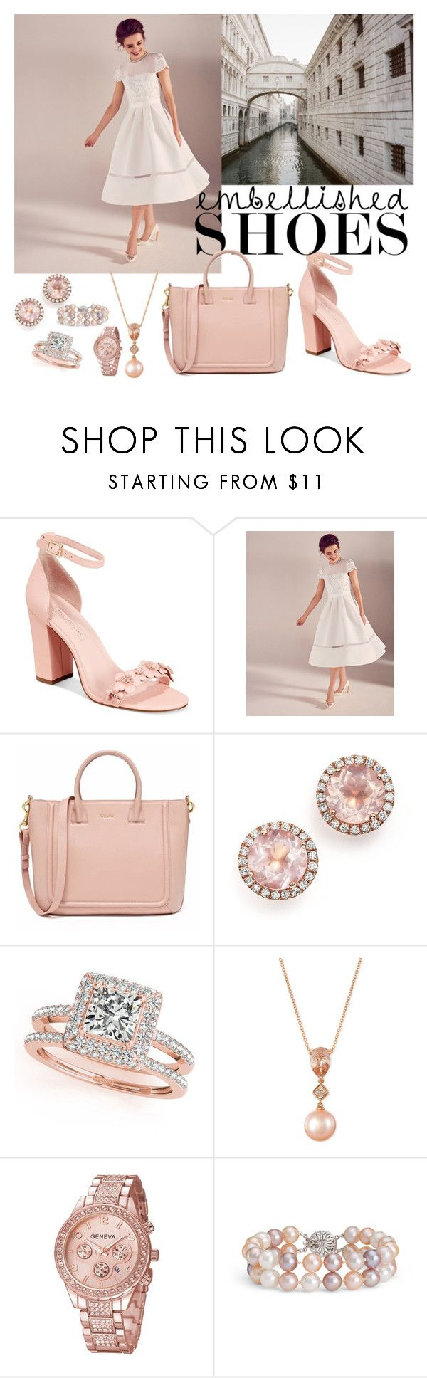 """Magic Slippers: Embellished Shoes"" by beakragh on Polyvore featuring Avec Les Filles, Ted Baker, Dana Rebecca Designs, Allurez, LE VIAN, Blue Nile, tedbaker, embellishedshoes, rosegoldjewelry and ss17"