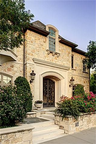 beautiful entrance relaxed luxury lovely home stone exterior