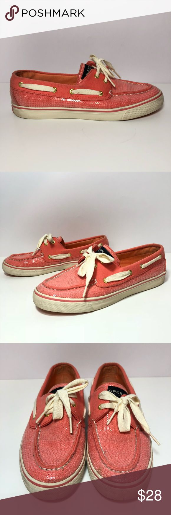 Sperry Top Sider Pink Sequin Boat Slip On Shoes Posh Thrift Shop  Thanks for stopping by!!!  Item: SPERRY TOP-SIDER WOMEN'S AUTHENTIC ORIGINAL GLITTER BOATSHOES PINK SIZE 8 M   Condition: In good used condition  Please refer to images for more details about this item. If you have any questions please feel free to ask. Sperry Top-Sider Shoes Flats & Loafers
