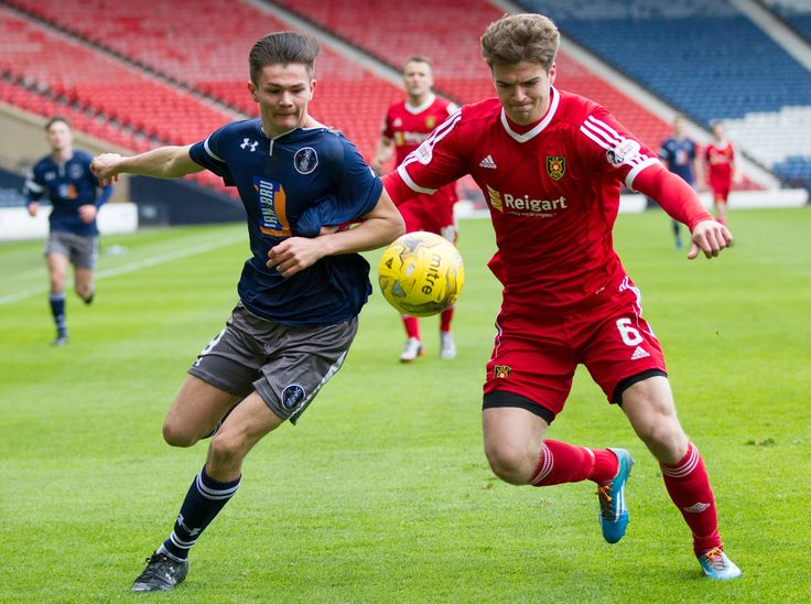 Queen's Park's Ewan MacPherson in action during the Ladbrokes League One game between Queen's Park and Albion Rovers.