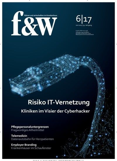 Risiko IT-Vernetzung #Kliniken im Visier der #Cyberhacker   Jetzt in f & w:  #Krankenhaus #cybercrime #Medizin
