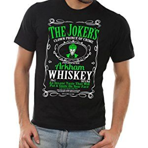 The Joker T-shirt Arkham Whiskey Black Unisex Shirt Suicide Squad Tee