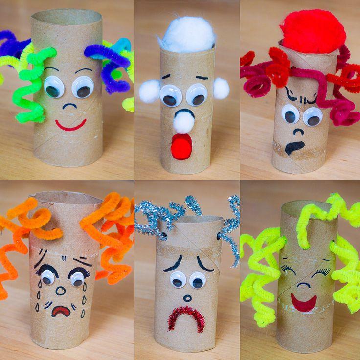 Montessori aus dem Herzen, DIY, einfaches Handwerk, 5 min Handwerk, Emotionen Puppen, Kinder …  – Arts/Crafts