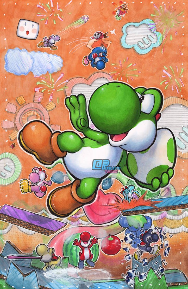 Smash Series Yoshi By Https Www Deviantart Com Pixelated Takkun On Deviantart Super Mario Art Yoshi Yoshi Halloween