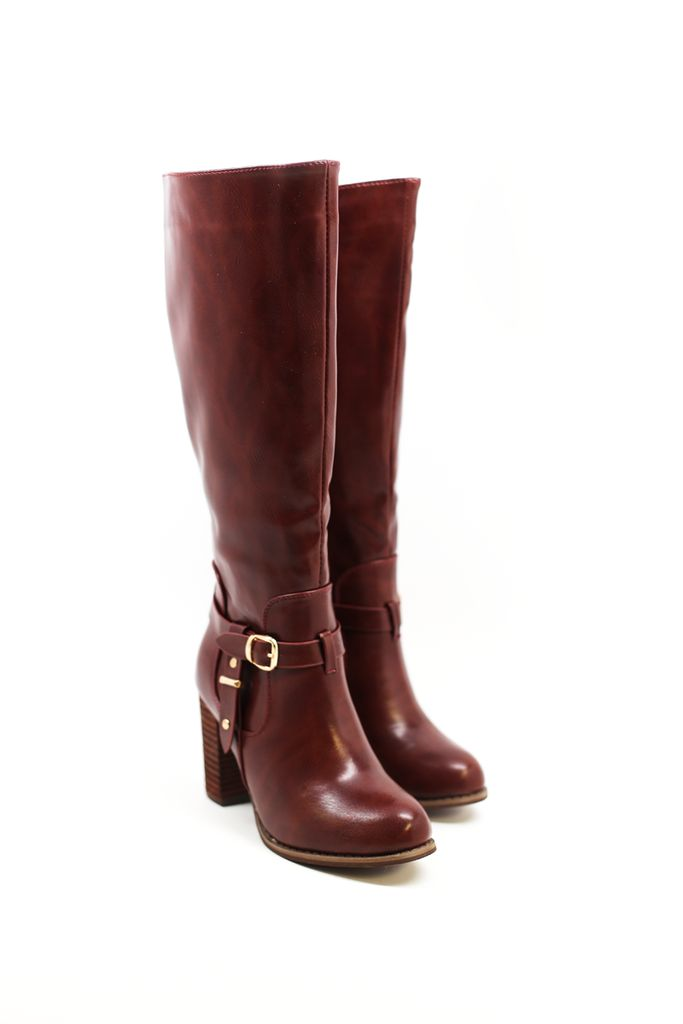 We're loving deep, rustic tones paired with powerful styling and these boots have both! Tuck in your skinnies and get ready to take on the day. Details: Vegan leather. Dimensions: Heel height measures