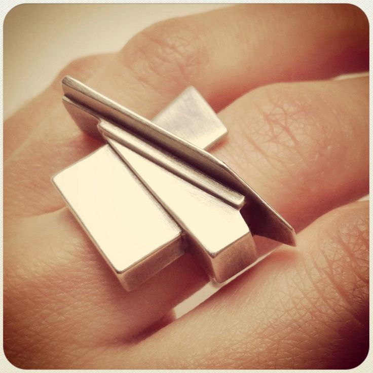 Metropolis Ring in Sterling Silver by Daniell Hudson