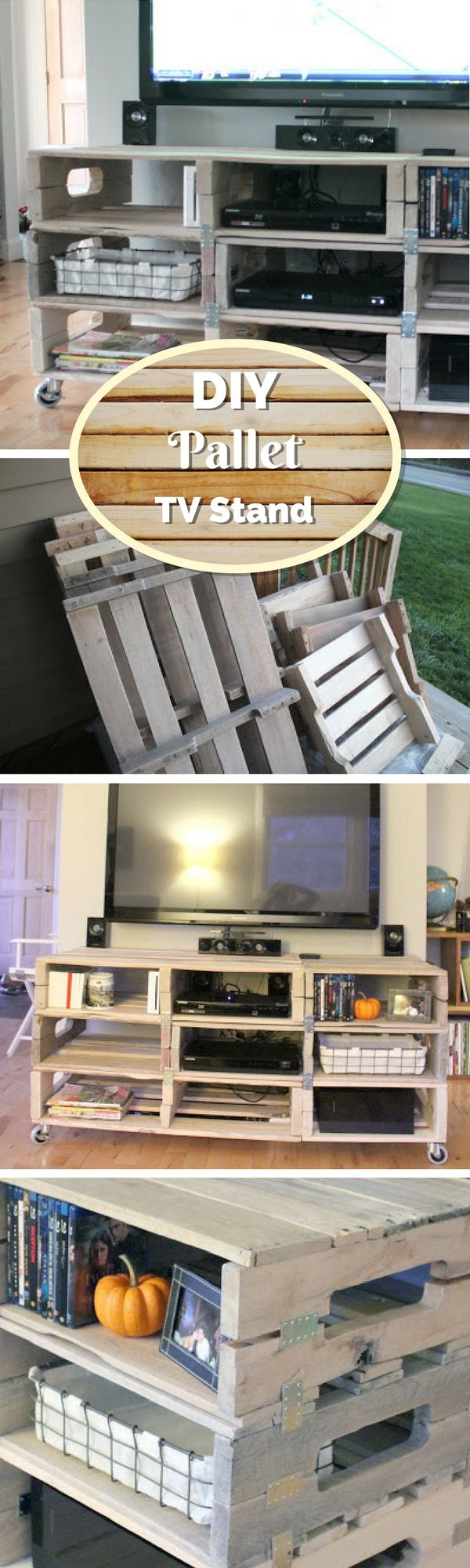 Check out how to build a DIY media console from pallets @istandarddesign