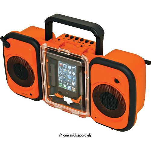 Iphone player. Waterproof and durable. Great for Camping, Kayaking, Tubing etc. Can be used while IN THE WATER!!!!