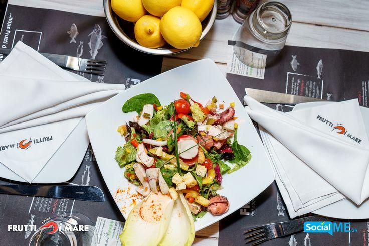 Σαλάτα με Φρούτα Της Θάλασσας.. Ότι καλύτερο για τις ανοιξιάτικες μέρες!!#FruttiDiMare #SeaFood #Restaurant #Thessaloniki