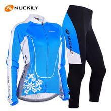 US $46.51 NUCKILY Women Cycling Jersey Long Sleeve Jacket Gel Pad Pants Sportswear Clothing Roupa MTB Bike Bicycle Cycling Jersey Set. Aliexpress product