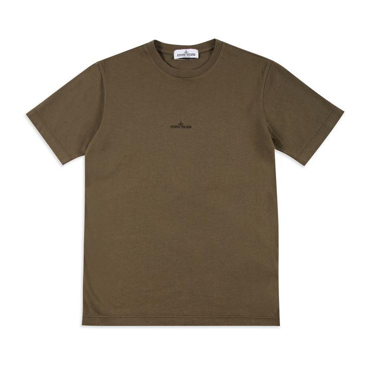 STONE ISLAND JUNIOR Boys Logo Graphic T-Shirt - Khaki Boys short sleeve t-shirt • Soft cotton jersey • Round neckline • Logo lettering • Reverse logo graphic • Material: 100% Cotton