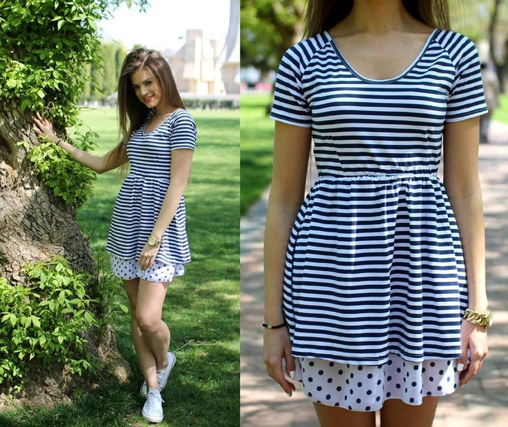 Mix Print- stripes and polka dot #dress for summer...:) Available at www.famevogue.ro  #style #shopping #rochi #fashion