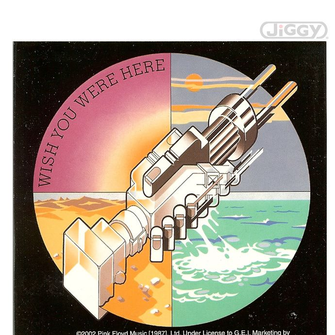 """JiGGy.Com - Pink Floyd - Wish You Were Here Gear Sticker Pink Floyd """"Wish You Were Here"""" gear sticker measuring 4"""" square."""