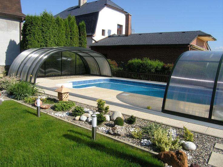 otevřené zastřešení bazénu TROPEA zvyšující teplotu i kvalitu vody v bazénu
