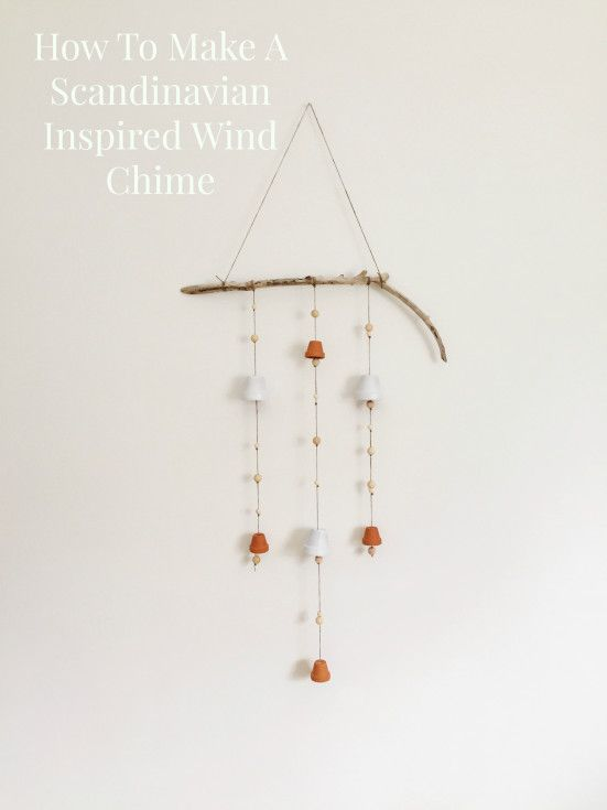 Row House Nest How To Make A Scandinavian Wind Chime | http://rowhousenest.com/scandinavian-wind-chime/