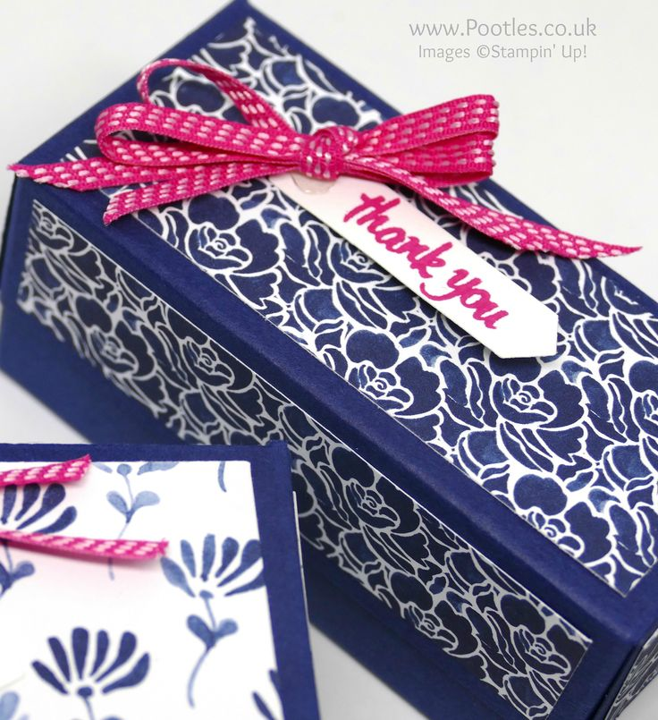 "Floral Boutique DSP, Classic Label punch, Melon Mambo 1/8"" Stitched Satin Ribbon, Thoughtful Banners (sentiment) - Yankee Candle Box (video on blog)"