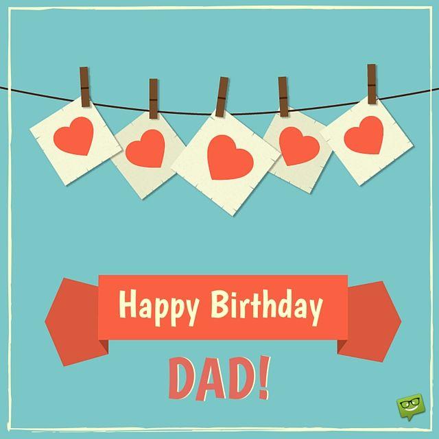 Happy Birthday, dad! Image with hearts.
