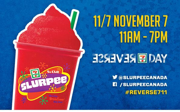 Free Slurpee on Reverse 7-11 Day http://www.lavahotdeals.com/ca/cheap/free-slurpee-reverse-7-11-day/134007