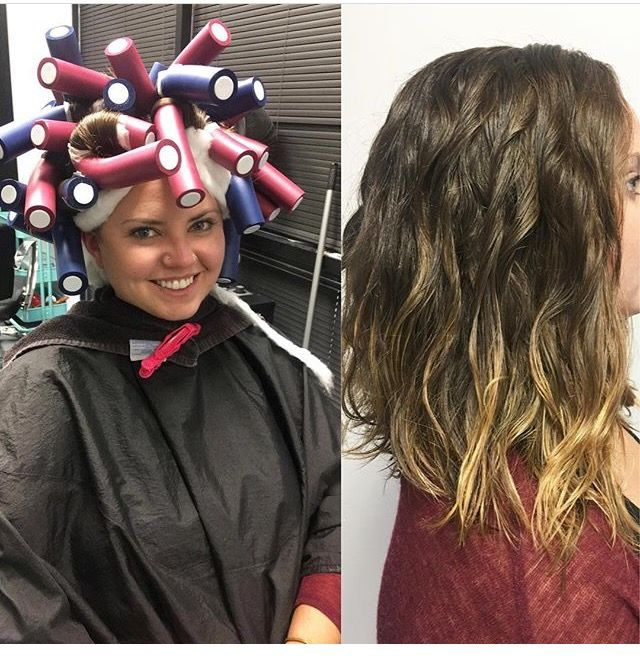 Beach Wave Perm - before and after