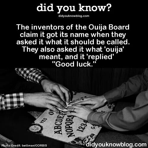 Ouija Board Facts