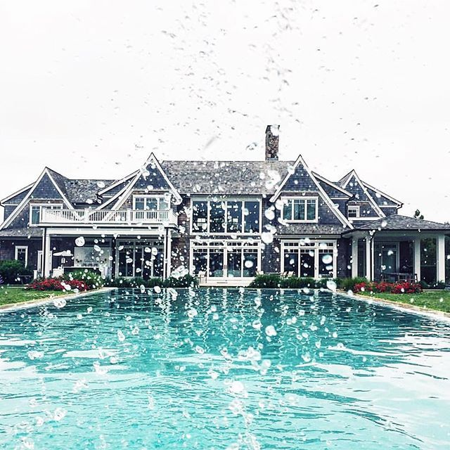 pool full of liquor, then you dive in 💦 @collagevintage #revolveinthehamptons