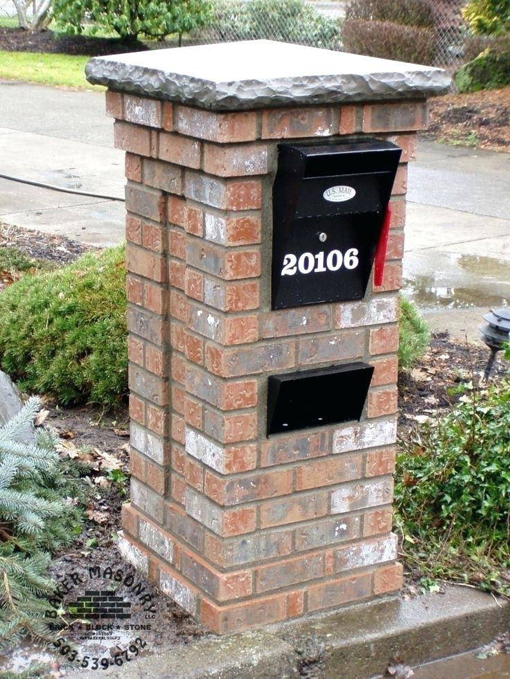 Brick Mailbox Mailbox Design Ideas Fresh Unique Brick Mailbox Design Brick And Stone Mailbox Ideas Brick Mailbox Mailbox Design Stone Mailbox