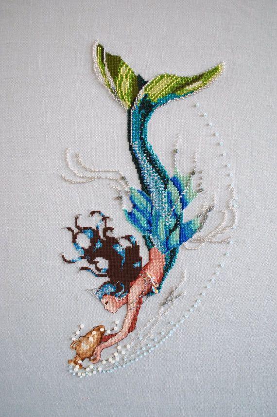 Completed Mirabilia Cross Stitch Mediterranean