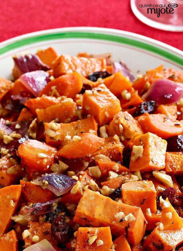 Patates douces et carottes rôties à l'érable #recette