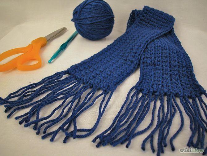 How To Crochet A Scarf : How to Crochet a Scarf Using Single Crochet: 5 Steps