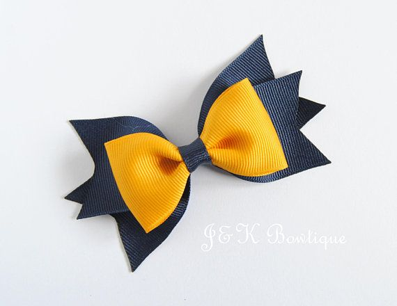 Girls Hair Bow Bobbles Sold In Pairs Handmade Yellow Pin Wheel
