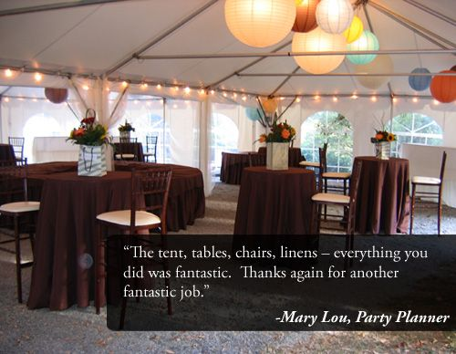 Manchester NH Tent Event And Wedding Rentals Call